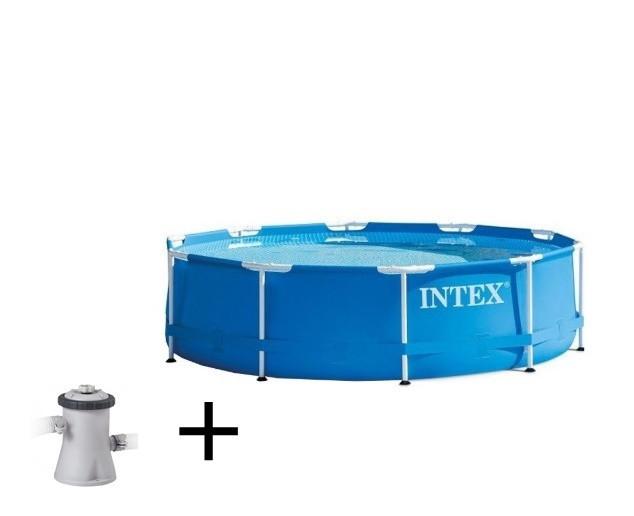 Piscina Bazin Intex Familie Relaxare Curte Rotunda Cadru Metalic 305 x 76cm