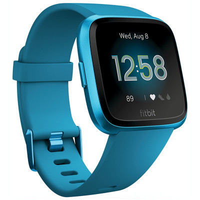 Ceas smartwatch Fitbit Versa Lite, Marina Blue / Marina Blue Aluminum foto