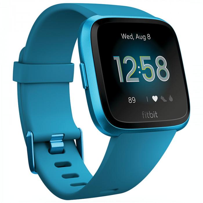 Ceas smartwatch Fitbit Versa Lite, Marina Blue / Marina Blue Aluminum