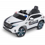 Masinuta Electrica cu Telecomanda Mercedes-Benz Eqc Police 12V Alba