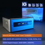 Mini PC Intel NUC, Core i3-8109U, 16GB DDR4, 512GB, NVMe, M.2., Intel Core i3, 16 GB, 200-499 GB