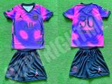 Compleu Echipament fotbal pentru copii JORDAN PSG MESSI ultimul model 2021-2022, YL, YM, YS, YXL, YXS, YXXL, Tricou + Pantalon