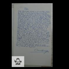 Manuscris/ Articol scris si semnat de Aurel Baranga - 1 pag
