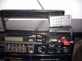 Radiocasetofon Fisher cu adaptor Mp3 (sd, usb ) cu telecomanda.