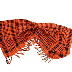 Fular - sal ( shemag ) - portocaliu cu negru ( 100 cm x 100 cm