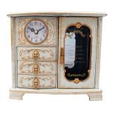 Cumpara ieftin Ceas de masa, cu trei sertare si ceas, 21 cm, 1533G