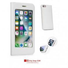 "Husa Flip Carte FULL VIEW Apple iPhone 6/6S (4,7"") Alb"