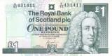 Bancnota Scotia 1 Pound 2001 - P351e UNC