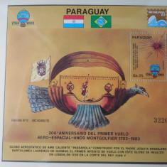 PARAGUAY-AVIATIE-BLOC NESTAMPILAT