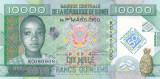 Bancnota Guineea 10.000 Franci 2012 - P45 UNC ( comemorativa )