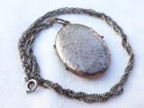 MEDALION argint cu LOCAS FOTOGRAFII LOCKET tehnica Loviturii de CIOCAN + Lant AG
