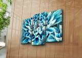 Tablou decorativ pe panza Horizon, 3 Piese, 237HRZ4242, Multicolor