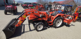 Tractor cu incarcator frontal si cupa standard 24CP,4x4