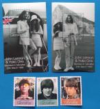 Gibraltar (Teritoriu britanic)-''JOHN-LENNON& YOKO ONO''-COLITE+SET-MNH, Stampilat