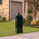 Cutie poștală stâlp, aluminiu, stil vintage, inoxidabil, verde