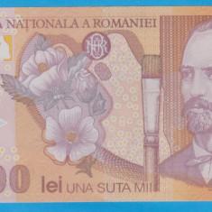 (2) BANCNOTA ROMANIA - 100.000 LEI 2001, POLYMER. STARE FOARTE BUNA
