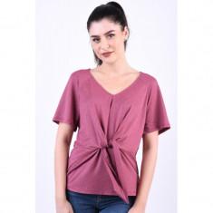 Bluza Vero Moda Cira V-Neck Hawthorn Rose