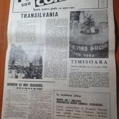 ziarul pro sau contra anul 1,nr.1 din 2-8 aprilie 1990-prima aparitie