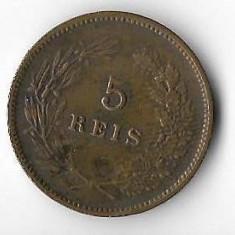 Moneda 5 reis 1906 - Portugalia