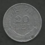 ROMANIA  20  LEI  1942  ZINC   [4]   livrare  in  cartonas
