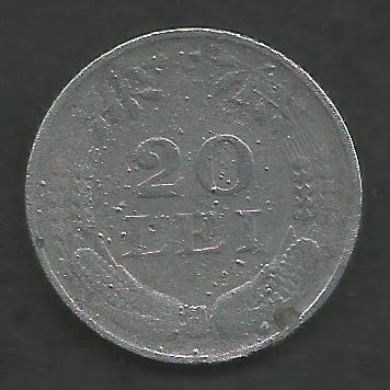 ROMANIA 20 LEI 1942 ZINC [4] livrare in cartonas foto