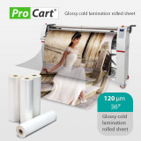 Cumpara ieftin Folie pentru laminat la rece suprafata Glossy, 36 inch, 120 microni, ProCart