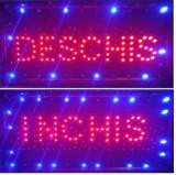 Reclama LED - Deschis Inchis - de interior, 50 x 25 cm