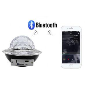 Glob disco cu LED RGB jocuri de lumini si MP3 LED UFO Bluetooth Crystal Magic Ball