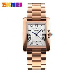 Ceas Luxury Elegant Dama SKMEI 1284 Bratara Metalica Special Rose Gold, Quartz, Otel, Inox