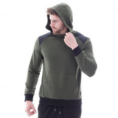 Hanorac pentru barbati verde cu gluga fixa regular fit sport Star