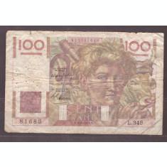 Franta 1949 - 100 francs, uzata