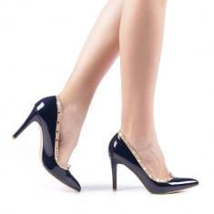 Pantofi dama Lomon albastri