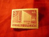 Timbru Finlanda 1942 - Cladirea Administratia Postei , val.9m, Nestampilat