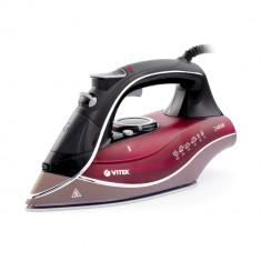Fier de calcat VITEK VT-1240 2400 W, talpa ceramica UniCera, rezervor 260ml, autocuratare, anti-calcar, auto-deconectare, pulverizare, jet aburi 140 g
