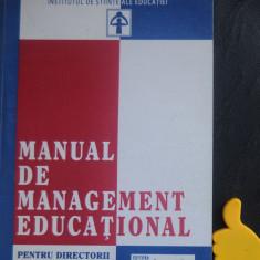 Manual de management educational pentru directorii de unitati scolare