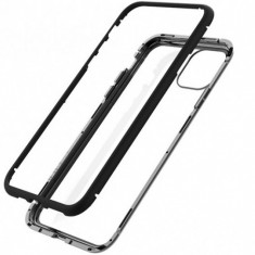 Husa Apple iPhone 11 Negru, Perfect Fit cu spate de sticla securizata premium