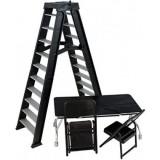 Accesorii WWE - Set scara, masa si scaune (negru), Mattel