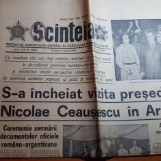 ziarul scanteia 9 martie 1974-vizita lui ceausescu in argentina