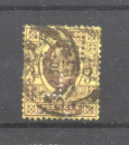 Great Britain 1902 King Edward VII perfin 3P Mi.108A K.14 used AM.395, Stampilat