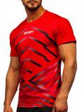 Cumpara ieftin Tricou de trening cu imprimeu roșu Bolf KS2063