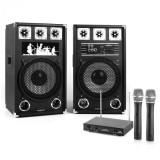 """Electronic-Star PA Karoke Set 2x12 """"pereche de boxe de microfon"""