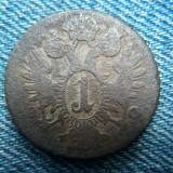 2q - 1 Kreuzer 1800 Austria, Europa
