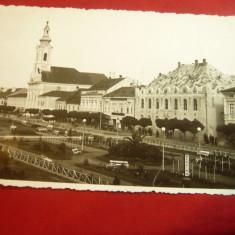 Ilustrata - Sighet- Maramures - Biserica Romano-Catolica si Parcul 1935, Necirculata, Fotografie