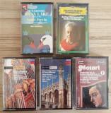 6 x casete originale muzica clasica [Brahms,Grieg,Mozart,Tchaikovsky], Casete audio, decca classics