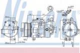 Compresor clima / aer conditionat BMW Seria 3 (E90) (2005 - 2011) NISSENS 89043