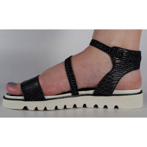 Sandale negre plane (cod 16-088026)