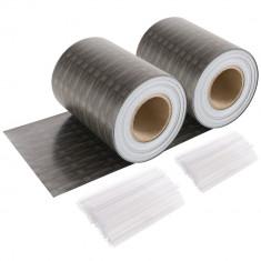 Rolă de confidențialitate din ratan PVC 70m - antracit