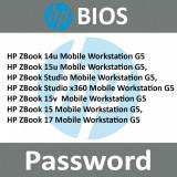 Bios UNLOCK Password  HP ZBook  15, 17, G5 Mobile Workstation