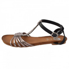 Sandale dama, din piele naturala, Gioseppo, 27531-18, argintiu