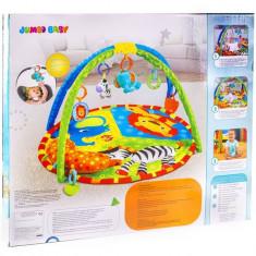 Covoras cu jucarii pentru bebelusi, I-JMB, 85x85x45 cm, multicolor